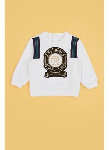 BG Baby Erkek Bebek Beyaz S-Shirt 20Pfwbg1403 Beyaz